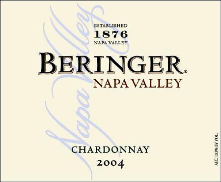 BERINGER Napa Valley Chardonnay